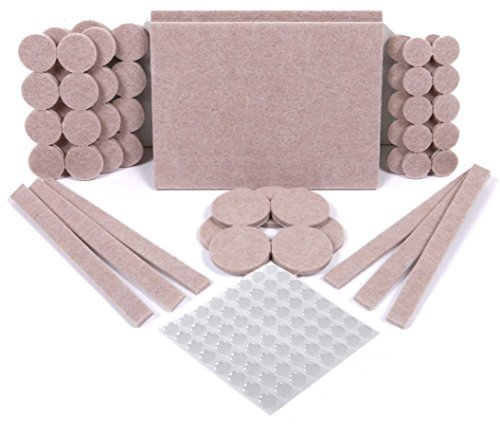 SIMALA Premium 124 Pack Furniture Pads, 60 Felt Pads & 64 Rubber Bumpers