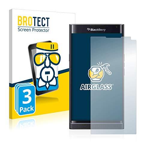 BROTECT Panzerglas Schutzfolie kompatibel mit BlackBerry Priv [3er Pack] - Flexibles Airglass, 9H Härte