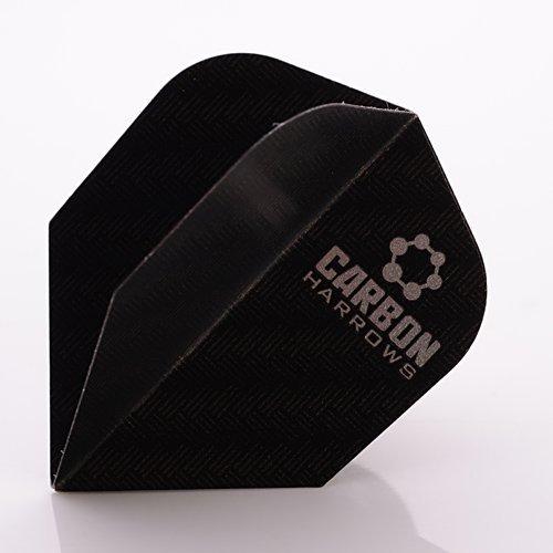 Harrows Carbon Flights Schwarz 100 Micron, 9er Set