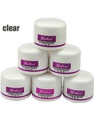 Coscelia 6pc Poudre Acrylique Transparent Nail Art Manucure Kits