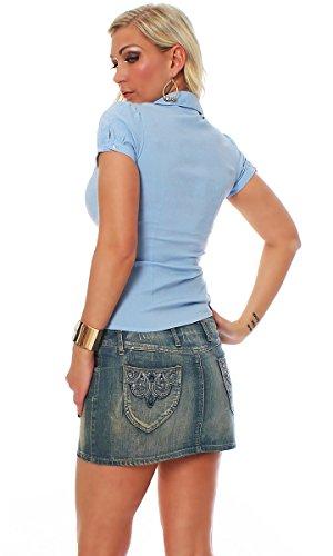 Fashion4Young - Chemisier - Femme bleu clair