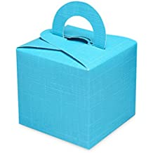 Club Green Silk Square Box With Handle Balloon Weights - Turquoise