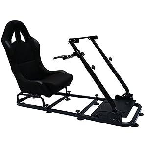 FK-Automotive Game Seat Spielsitz für PC und Spielekonsolen Stoff schwarz