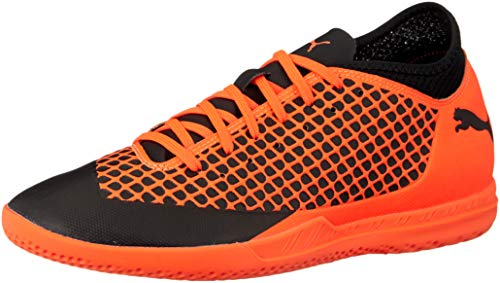 Puma Herren Future 2.4 IT Fußballschuhe, Schwarz Black-Shocking Orange 02, 46.5 EU