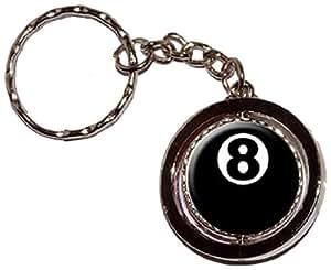 8Ball–Billard de Piscine–Anneau porte-clés avec