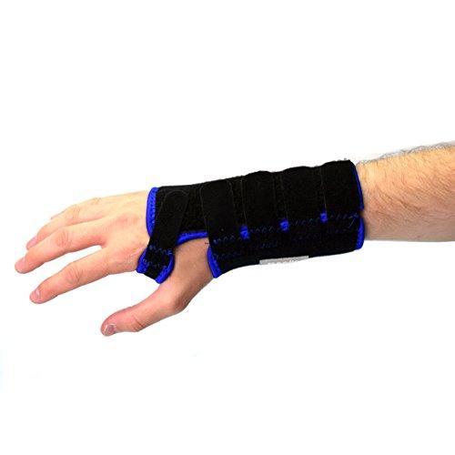 Meglio atmungsaktive Handgelenkbandage - mit herausnehmbarer Schiene für zusätzliche Unterstützung - Hilft bei Karpaltunnelsyndrom, und bietet Unterstützung bei Sport und Fitness