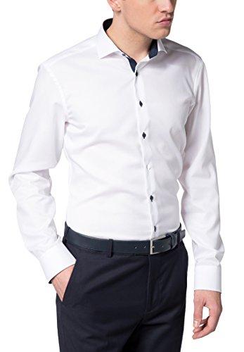 eterna Langarm Hemd Slim Fit Pinpoint Unifarben (Slim Pinpoint Fit)