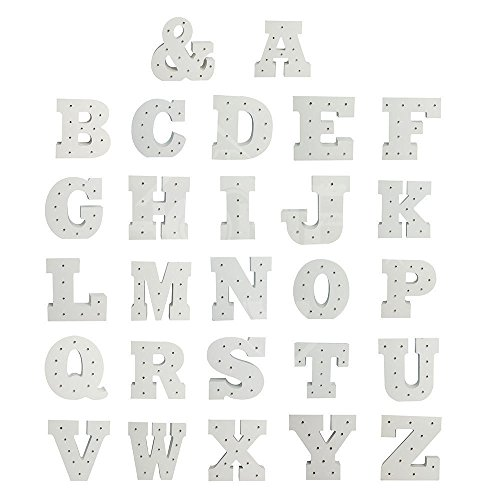 Gladle LED-Buchstabe-Lichter, A-Z Buchstaben Lichter Hölzerne dekorative Alphabet-Lampe ,I