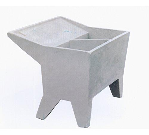 Vasca Lavatoio In Ceramica.Lavatoio Lavanderia Cm100x80x80h Doppia Vasca Grigio Levigato