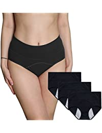 1331e90d623 INNERSY 3Pack Women Underwear Postpartum Menstrual Period Briefs Leakproof  Protective Organic Cotton Knickers(Must Use