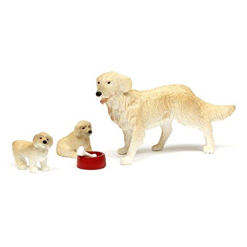Lundby 60.8055.00 - Hundefamilie, Minipuppen mit Zubehör