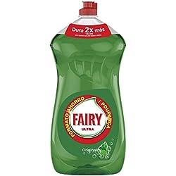 Fairy Ultra - Líquido lavavajillas verde oscuro sin remojo ni grasa 1410 ml, pack de 3
