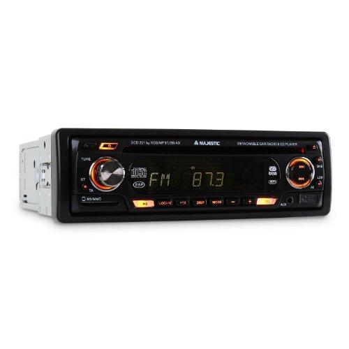 Majestic/Audiola Autoradio Multi Receiver mit integr. CD-MP3-Player (80W, USB/SD, CD/MP3/WMA, AUX, UKW/MW mit RDS)