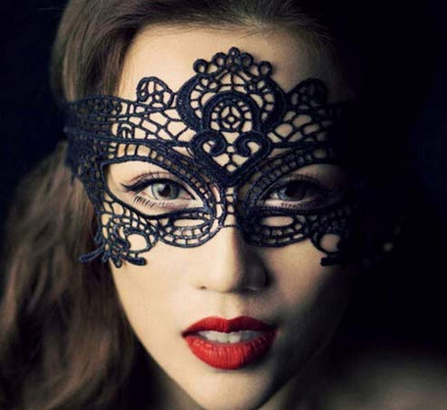 n Spitze Maske Catwoman Maskerade Tanzen Abendgesellschaft Augenmaske Katze Halloween Kostüm 5 Pack ()