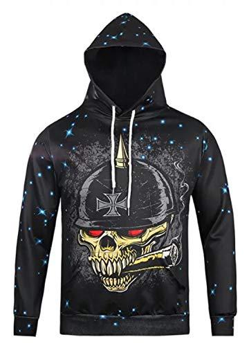 Pizoff Unisex Halloween Sweatshirts Kapuzenpullover - Hip Hop -