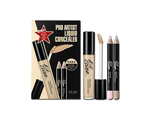Clio Pro Artist Liquid Concealer with Pencil Concealer Brighter Set (2-BP (Lingerie)) by Clio