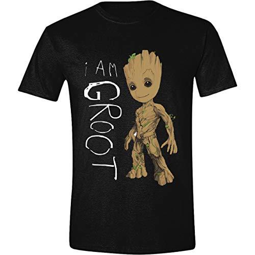 Guardians of the Galaxy - I Am Groot Scribbles Herren T-Shirt - Schwarz - Größe Large