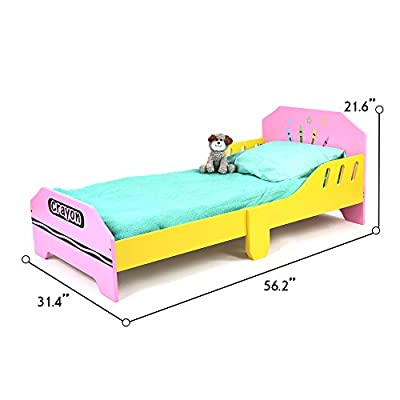 Kiddi Style Children's Junior Wooden Bed  iSafe