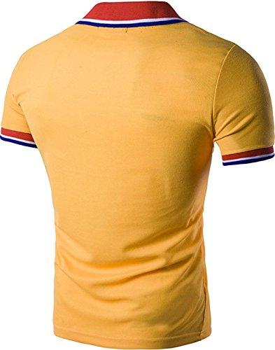 Sportides Herren Poloshirt Orange