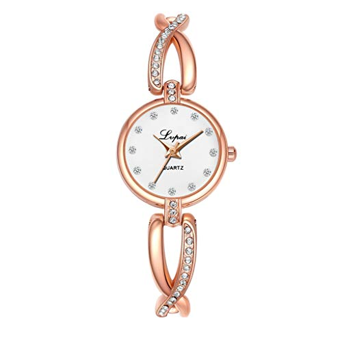 TWISFER Uhrenarmband Damen Uhren Armbanduhr Casual Quarz Analoge Wasserdiamant Edelstahl Armband Uhren Überwachung Watch Elegant Exquisit Uhr Rmbanduhr Uhren Armbanduhren