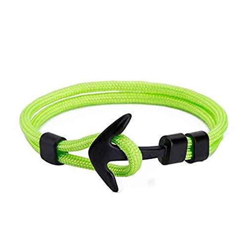 xel_uu.11 Schmuck-Armband mit Piraten-Anker-Armband für Männer und Frauen, Leuchtend grün, Einheitsgröße (Frauen Für Piraten-schmuck)