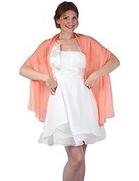 ROBLORA, châle en mousseline, étole, écharpe pour robe de soirée, de différentes couleurs, taille 35 x 170 cm