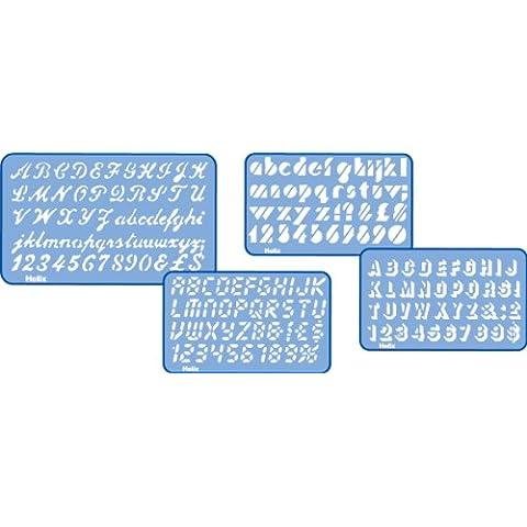 Helix H41010 - Juego de plantillas con letras