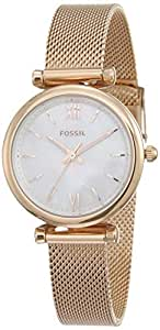 Fossil Carlie Analog White Dial Women's Watch - ES4433