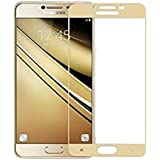 DigiPrints Premium Oil Resistant Coated Tempered Glass Screen Protector Film Guard for Samsung Galaxy J7 Prime-Gold