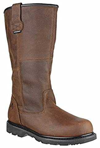 Amblers Safety Mens FS144 Leather Waterproof Safety Boots Brown
