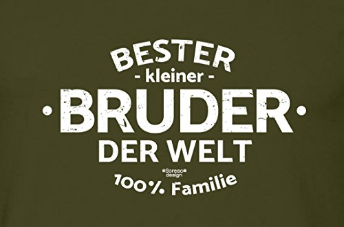 Geburtstagsgeschenk Bruder :-: Herren-Motiv T-Shirt mit Urkunde besten Bruder :-: Weihnachtsgeschenk :-: Bester Bruder der Welt :-: Geschenkidee für Männer auch Übergrößen 3XL 4XL 5XL grün-19