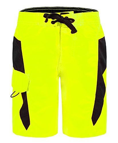 kids-swimming-shorts-us-apparel-by-083-in-neon-yellow-m-10-years
