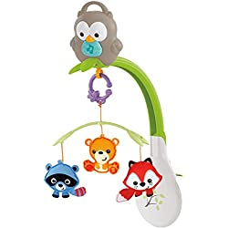Fisher Price Móvil musical 3 en 1, juguete y proyector de cuna para bebés recién nacidos (Mattel CDM84)