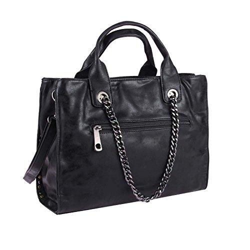 OBC Only-Beautiful-Couture Borsa Messenger - Nero-argento, ca 26x33x10 cm (BxHxT) Nero-argento