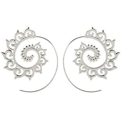 Westeng 1 par de Pendientes de Plata Moda Forma de Engranaje Muchachas de Las Mujeres Pendientes Cristalino Encantador Pendientes