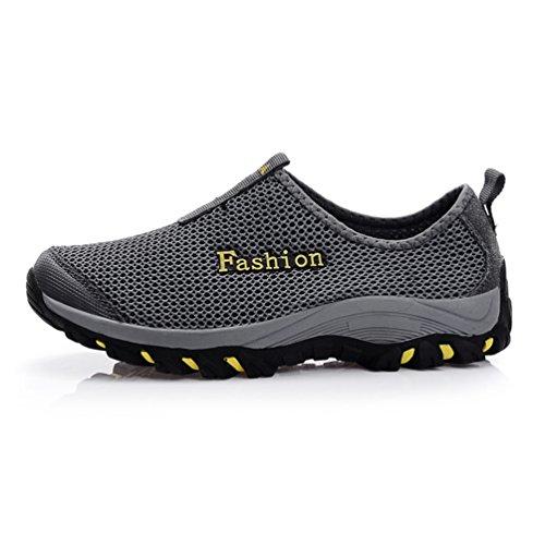 XIGUAFR Hommes Chaussures Mesh Respirant Chaussures de Sport de Randonnée D'Escalade en Plein Air