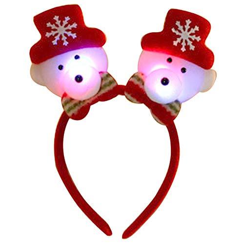 axusndas Weihnachten LED Light Stirnband Weihnachtsmann Schneemann Elch -