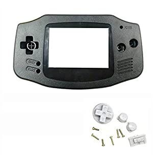 Ake Game Machine Cover Case Housing Shell Kasten with Mirror Button Kit Set Replacement Part Repair Accessory für GBA Host -Black