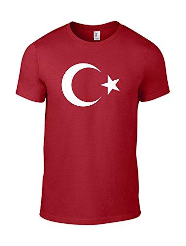 T-Shirt Türkei Mond Stern/Motivshirt / Funshirt / 6 Farben/S-XXL (Rot M)