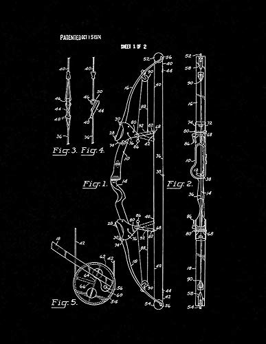 IMANI EDWARDS Compound Archery Bow Patent Print Black Matte (8.5
