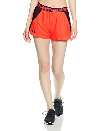 Under armour play up short 2.0, pantaloncini, donna, neon coral, m