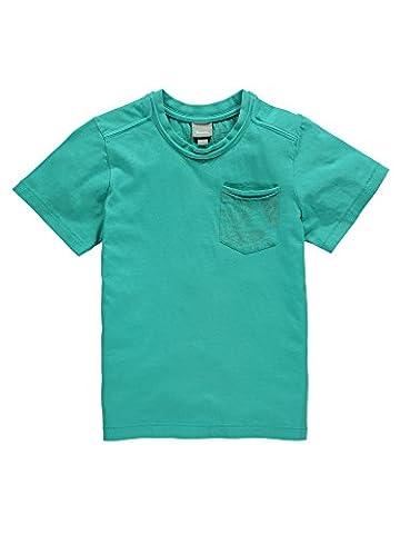 Bench Jungen Regular Fit T-Shirt OVERDYED TEE BKBG000388, Einfarbig, Gr. 164 (Herstellergröße: 13-14), Türkis (ceramic Gr145)