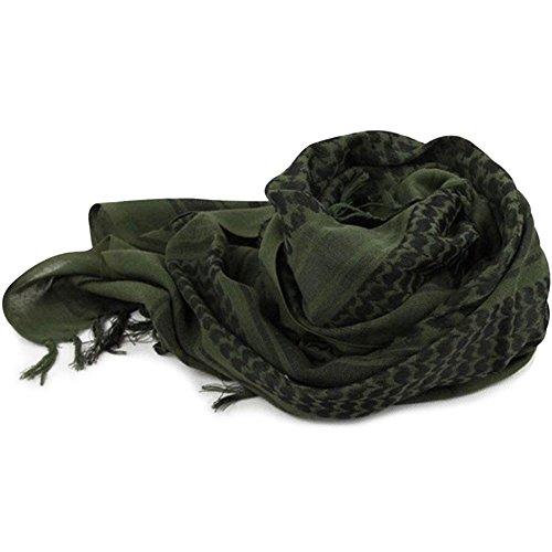 Forfar 1 Stück Taktischer Wüstenschal Arabisch Kopf wickeln Militärische Kopftuch Baumwolle Winddicht Multifuction Quaste Kopftuch