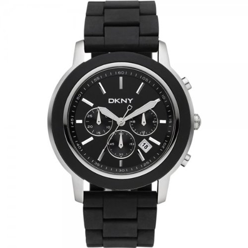 DKNY Gents Chronograph Black Rubber Strap Watch NY1493