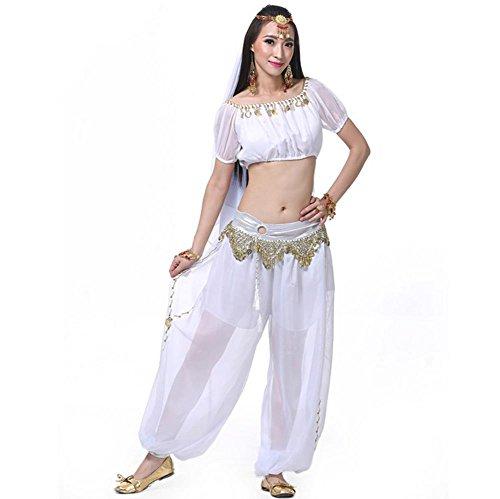 �rmel Ring Laterne Bauchtanz Gürtel Garn Indien Performance Kit . White . 2 (Grüne Laterne Kostüm Für Verkauf)