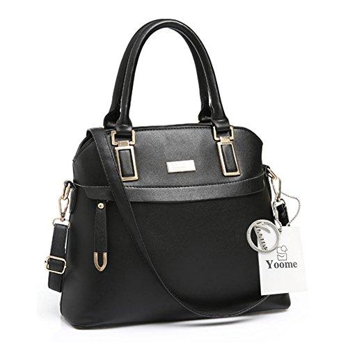Sacchetti eleganti per la borsa della borsa della borsa della borsa della borsa della borsa del sacchetto della borsa della tela di Yoome Street Top - Bianco Nero