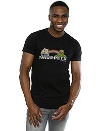 Muppets Homme Rainbow Logo T-Shirt XXX-Large Noir