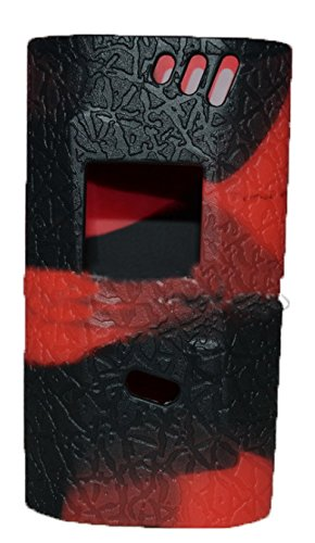 al85 220wAnti-Rutsch-Hülle for smok AL85 220w Baby Alien 220w TC Silicone Case ByCover Sleeve Skin Wrap CaseSilikon Hülle für Smok Alien 220W Box Mod Kit With Farbsilikonringe ( black+red) Case Silicon Sleeve