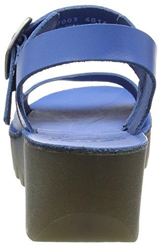 FLY London Yail907, Sandales Bout Ouvert Femme Bleu (Smurf Blue 003)