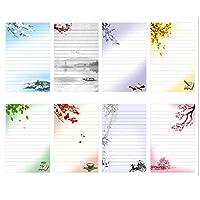 مجموعة من 40 قرطاسية وكتابة مخططة من IMagicoo بتصميم قديم، 8 أنماط مختلفة